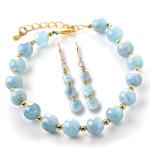 aquamarine-braceletes